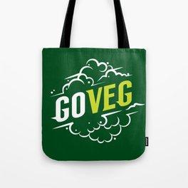 Go Veg sticker Tote Bag