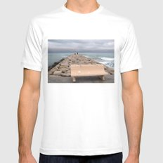 the storm moves away (Sitges) Mens Fitted Tee White MEDIUM