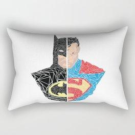 Human vs Kryptonian Rectangular Pillow