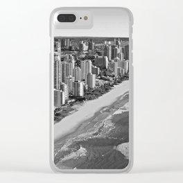 Black and White Gold Coast - Australia Clear iPhone Case