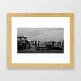 Grand Canal Black and White Framed Art Print