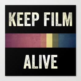 Keep Film Alive Canvas Print