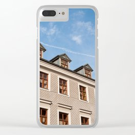 Tenement houses with attic in Lublin Clear iPhone Case