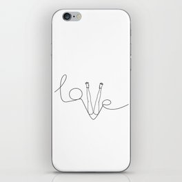 Man & LoveMe iPhone Skin