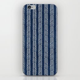Mud cloth - Navy Arrowheads iPhone Skin