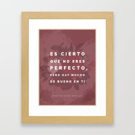 You Are Not Perfect (Spanish) Framed Art Print
