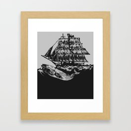 Rocked To Sleep By The Billows Framed Art Print