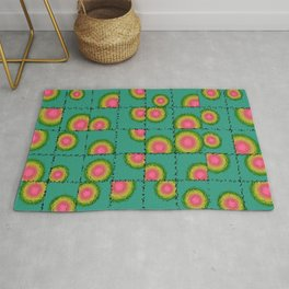 Tiled circular gradients Rug