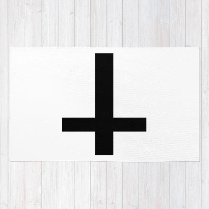 Satanic Cross Rug By Deathwish Society6