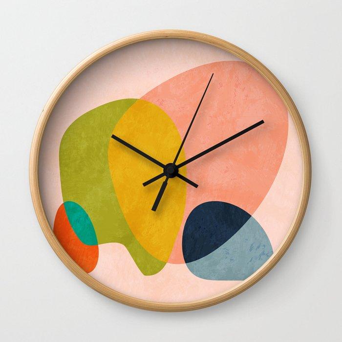 pink shape Wall Clock