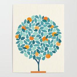 Tropical Mango Tree Poster