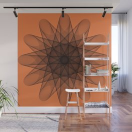 Powerful orange color Wall Mural