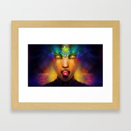 Vermilion Tongued Siren Framed Art Print