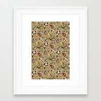 paisley Framed Art Prints featuring Paisley by Catru
