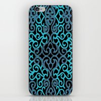 celtic iPhone & iPod Skins featuring celtic blue by Ariadne