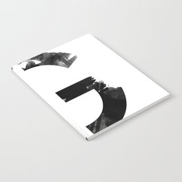 Black and White Abstract Geometric G Notebook