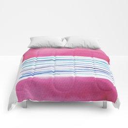 20  |181026 Lines & Color Block | Watercolor Abstract | Modern Watercolor Art Comforters