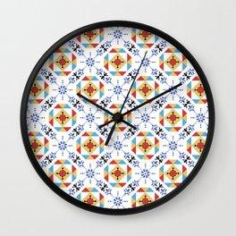 Portuguese Tiles Mix Wall Clock