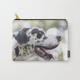 Harlequin Great Dane Head-shot Carry-All Pouch