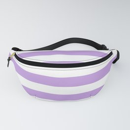 Violet and White Stripes Fanny Pack