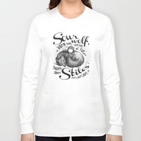 stiles Long Sleeve T-shirts featuring Sterek Sleepy Wolf & Stiles II by siny