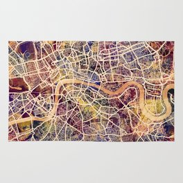 London England Street Map Rug