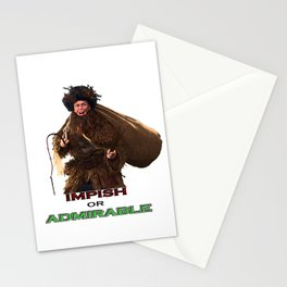 impish or admirable Stationery Cards