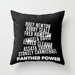 Panther Power Throw Pillow