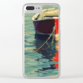 Red Boat Clear iPhone Case