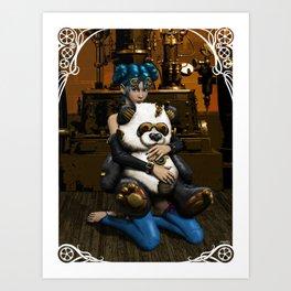 Steampunk Addict Art Print