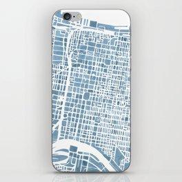 Philadelphia City Map iPhone Skin