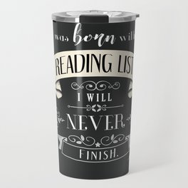 Born With a Reading List - Charcoal Travel Mug