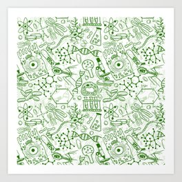 School Chemical pattern #1 Art Print