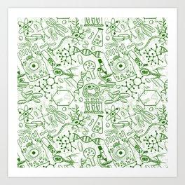 School Chemical pattern #1 Art Print