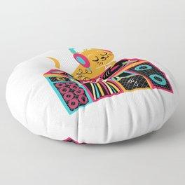 Cat DJ Floor Pillow