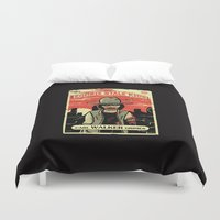 grimes Duvet Covers featuring Walker Grimes by Stationjack