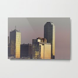 Dallas Twilight Towers - Sunset Cityscape Metal Print