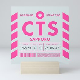 Luggage Tag D - CTS Sapporo New Chitose Japan Mini Art Print