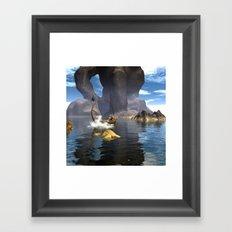 Fantasy seascape Framed Art Print
