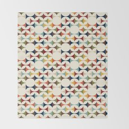 Mod Abstract, Mid Century, Colorful Pattern Throw Blanket