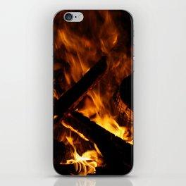 Camp fire iPhone Skin