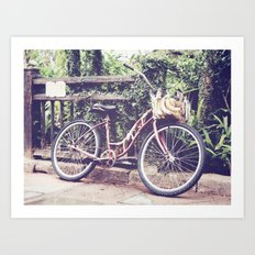 Banana Bike Art Print