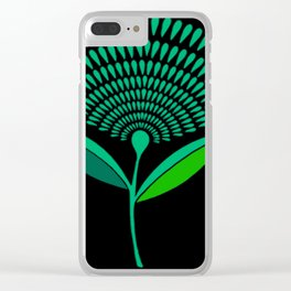 Mid Century Modern Dandelion Seed Head In Carnival Glass Clear iPhone Case