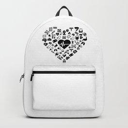 I Love First Aid | Doctor Nurse Heart Hospital Backpack