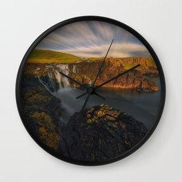 Dunseverick Waterfall III Wall Clock