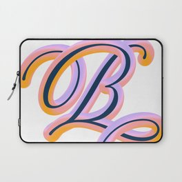 Vintage Feel. Colourful and Playful Letters B Laptop Sleeve