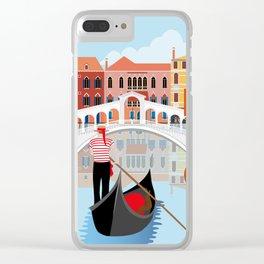 Venice Art Print Clear iPhone Case
