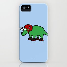 Roller Derby Triceratops iPhone Case