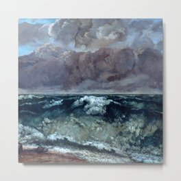 """Gustave Courbet """"The Wave 1969-1870 Berlin"""" Metal Print"""