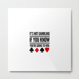 Poker Gambling Las Vegas Casino Metal Print